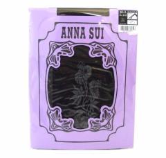 【新品】 廃盤 ANNA SUI アナスイ「M〜L」ブルーミングフラワーストッキング (タイツ ブラック 黒) 092262