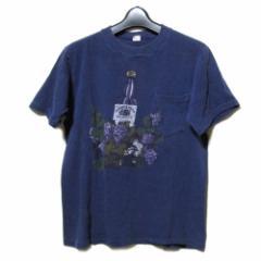 70s Vintage HI CSU 70年代ヴィンテージ USA Made ワインボトルTシャツ (古着) 092513