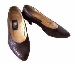 sacha サシャ「37」レザーヒールパンプス (靴 シューズ 皮 革) 093829