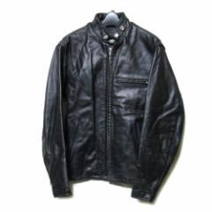 Schott ショット「34」黒シングルレザーライダースジャケット (革 皮) 094342