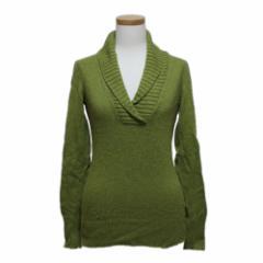 J.CREW ジェイクルー「XS」襟付きVネックセーター (長袖ニット) 094516