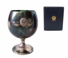 Vintage EXPO70 ヴィンテージ 大阪万博 真鍮ワイングラス ケース付 (エキスポ 当時物) 094799【中古】
