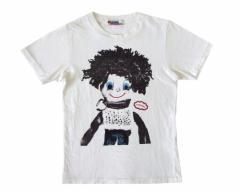 HYSTERIC GLAMOUR ヒステリックグラマー 白半袖プリントTシャツ 095495