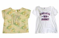 Pinklatte ピンクラテ ワイドデザイン半袖Tシャツ2枚セット 096078