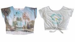 Pinklatte ピンクラテ ワイドデザイン半袖Tシャツ2枚セット 096080