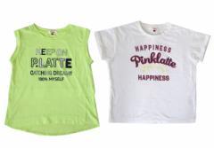 Pinklatte ピンクラテ デザイン半袖Tシャツ2枚セット 096081