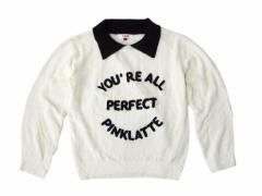 Pinklatte ピンクラテ「S」襟付きニットセーター (ワールド) 096188