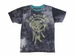 RUTILATED QUARTZ ルチルクォーツ「38」グランジ染み込みプリント半袖Tシャツ 096215