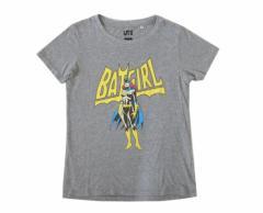 美品 UNIQLO×BADGIRL ユニクロ×バッドガール「M」限定半袖Tシャツ (BATMAN バットマン) 096235