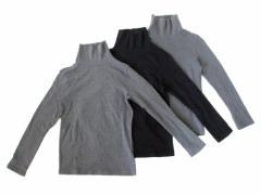 UNIQLO ユニクロ「140」ハイネックカットソー 3枚セット (長袖ロンTシャツ) 096390