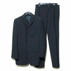 美品 D&G ディーアンドジー「30/44」イタリア製 ギャバジン4Bセットアップスーツ (黒 Dolce&Gabbana ドルチェ&ガッバーナ) 096429