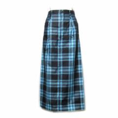 美品 Ys ワイズ「3」タータンチェックロングスカート (山本耀司 Yohji Yamamoto ヨウジヤマモト) 096590