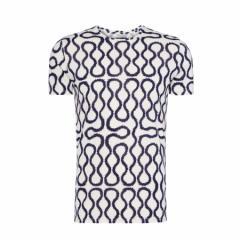 【新古品】Vivienne Westwood ヴィヴィアンウエストウッド イタリア製 ネイビー×ホワイト スクイーグルTシャツ 096812