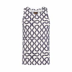 【新古品】Vivienne Westwood ヴィヴィアンウエストウッド イタリア製 ネイビー×ホワイト スクイーグルノースリーブTシャツ 096821