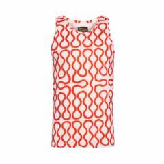 【新古品】Vivienne Westwood ヴィヴィアンウエストウッド イタリア製 レッド×ホワイト スクイーグルノースリーブTシャツ 096823