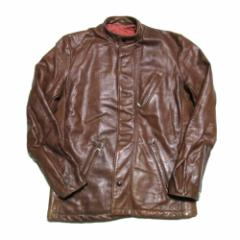 70s Vintage 70年代ヴィンテージ「38」USA フルジップレザーライダースジャケット (革 皮 アメリカ製) 097140