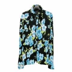 美品 PEDESTRIAN PARADISE ペデストリアンパラダイス「L」フラワー パターンシャツ (縮絨) 097244