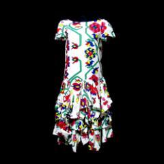 美品 Vivienne Westwood RED LABEL ヴィヴィアン ウエストウッド レッドレーベル「2」サイケデザインボリュームワンピース 097901
