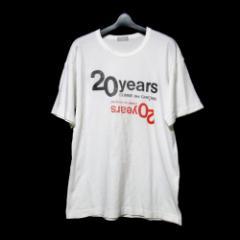 COMME des GARCONS HOMME コムデギャルソン オム 20周年限定ロゴTシャツ (白 半袖) 098439