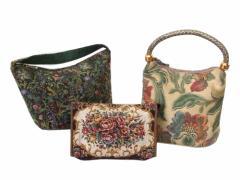 Select セレクト ゴブラン織りバッグ。ポーチ 3点セット (鞄) 098974