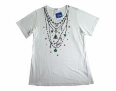 【新品】 Disney ディズニー アリエルTシャツ (白 半袖 人魚姫) 099271