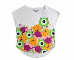 【新品】 Disney TsumTsum Candy ディズニー ツムツムキャンディ オールスターTシャツ (白 半袖) 099275
