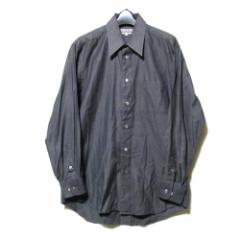 Jean Paul GAULTIER HOMME ジャンポールゴルチエ オム「46」スタンドカラーシャツ (黒 グレー ゴルチェ 長袖) 099469