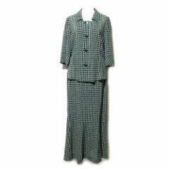 TOMI MIYAZAKI トミミヤザキ「S」チェック柄セットアップスーツ (ロングスカート) 099649