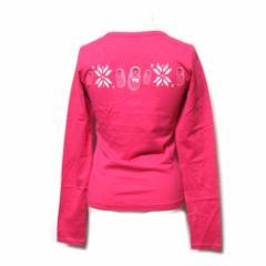 美品 Y-3 ワイスリー「XS」マトリョウシカTシャツ (ピンク 長袖 ヨウジヤマモト×アディダス Ys ワイズ 山本耀司) 099852