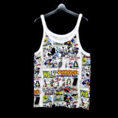 W&LT ダブルアンドエルティー「M」パクパク君アメコミタンクトップTシャツ (WandLT ウォルター ヴァン ベイレンドンク ) 099991【中古】
