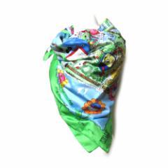 美品 W&LT ダブルアンドエルティー イタリア製 パクパク君ワールド大判スカーフ (WandLT ウォルター ヴァン ベイレンドンク) 100008