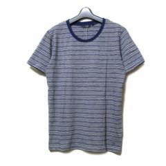 【新品】 uu uniqlo×undercover アンダーカバー ユニクロ「M」限定 ボーダーTシャツ (グレー 青 半袖) 100047