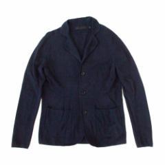 美品 UNIQLO ユニクロ コットン3Bジャケット (紺 ネイビー カーディガン) 100337