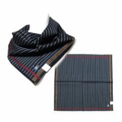 【新品】 廃盤 Vivienne Westwood ヴィヴィアンウエストウッド ストライプカラーオーブ刺繍大判ハンカチ (バンダナ スカーフ) 100468