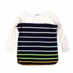 美品 GAP ギャップ ボーダーTシャツ (紺 長袖 ロンTシャツ) 100574
