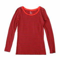 美品 GAP ギャップ ボーダーTシャツ (赤 紺 長袖 ロンTシャツ) 100575