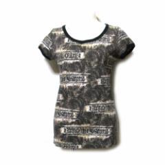 Jean Paul GAULTIER FEMME  ジャンポールゴルチエ ファム「40」グランジデザインTシャツ (黒 ファム 半袖) 101168