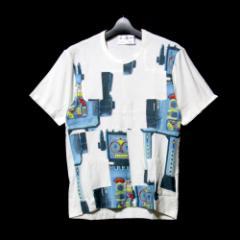 COMME des GARCONS SHIRT コムデギャルソン シャツ「S」フランス製 ロボットパッチワークTシャツ (白 半袖 玩具) 101438