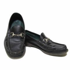 GUCCI グッチ「7」イタリア製 レザービットローファー (茶色 革 皮 靴 シューズ) 101544