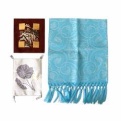 美品 Japanise 日本伝統 高級御念珠袋.龍村美術織物敷物 3点セット (つづれ織り 着物 織物 まとめて) 101613