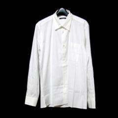 LOUIS VUITTON ルイヴィトン 「40 15 3/4」フランス製 プレーンカッターシャツ (白 定番) 101717