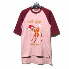beauty:beast ビューティービースト「M」エアゾーンバンビ刺繍Tシャツ (半袖 Air zone) 101724