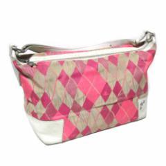 廃盤 Vivienne Westwood ヴィヴィアンウエストウッド イタリア製 アーガイルチェックショルダーバッグ (ピンク 鞄) 101789【中古】