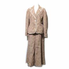 LAURA ASHLEY ローラアシュレイ「13」カントリーフラワーセットアップスーツ (花柄 ジャケット ロングスカート) 101861
