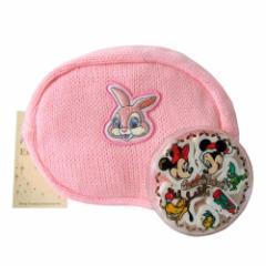 【新品】 Disney ディズニー 1996年クリスマス限定消しゴム、ミスバニーニットポーチ 2個セット (文房具 バッグ ミッキーマウス) 101984