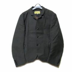 美品 nemeth ネメス「M」ピンストライプ3Bジャケット (グレー クリストファーネメス ユニセックス) 102176