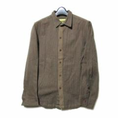 nemeth ネメス「S」デザインコットンシャツ (茶色 クリストファーネメス ユニセックス) 102179