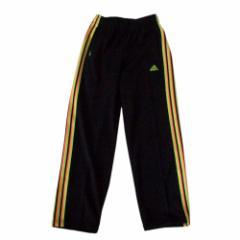 美品 adidas アディダス レインボーラインジャージパンツ (黒) 102204