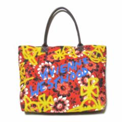 廃盤 Vivienne Westwood ヴィヴィアンウエストウッド ワイドフラワートートバッグ (赤 レザーハンドル) 102486【中古】