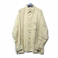 Vintage ISSEY MIYAKE MEN イッセイミヤケ メン「L」ワイドシルエットシルクシャツ (ベージュ 80年代ヴィンテージ) 102618